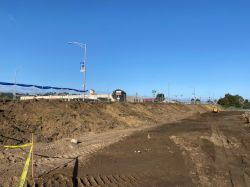 Excavation along El Camino Real