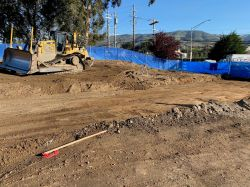 Excavation of temporary BART access road on LPR Site