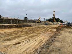 Excavation of LPR Building Pad