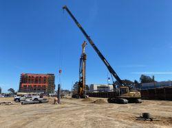 Drill Tech places auger cast pile