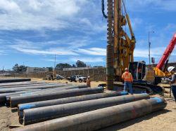 Auger Cast Pile Drilling