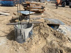 Concrete curing in Auger Cast Piles with Cages