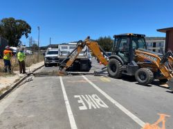 Joint Trench excavation work in roadway