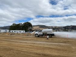 Watering LPR Site for Dust Control