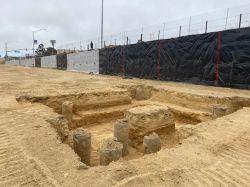 Excavation of Elevator Pit
