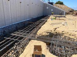 Rebar Installation along Shoring Wall