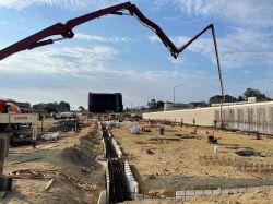 1st Concrete Pour for LPR Building Foundation