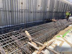 Rebar Installation at LPR Site