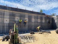 Rebar Installation at Retaining Wall