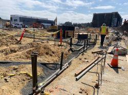 Below Grade Plumbing Installation in Building Pad