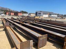 Steel Delivered to LPR Site for Steel Erection