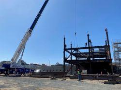Steel Erection at LPR Site