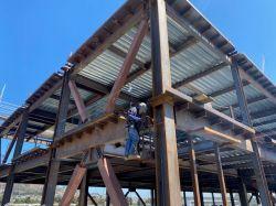 Welding Steel at LPR Building Level 3