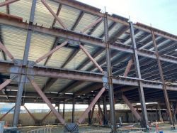 Park Side of LPR Steel Structure