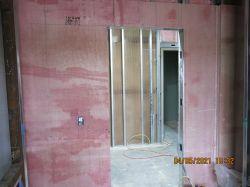 Ballistic board installation at PD Corridor 1102