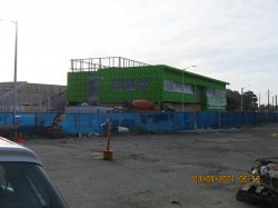 Exterior Wall Installation in main Police building