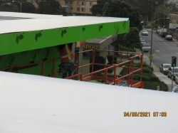 Eyebrow installation at roof eave
