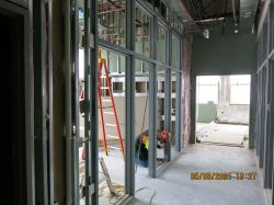 Framing window system in police Building
