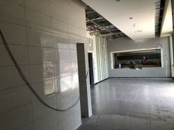 Wall Tile Installation at Lobby