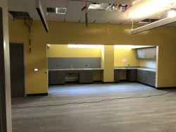 Installing Resinous Flooring in Work Area