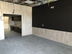 Polishing floors in Break Area