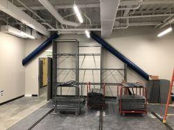 Installing high density shelving at General Property Storage