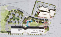 Civic Campus site plan including Main Campus and PD
