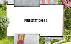 Architectural site plan of new fire station